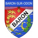 Baron-sur-Odon 14 ville Stickers blason autocollant adhésif