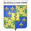 Stickers coat of arms Blainville-sur-Orne adhesive sticker