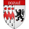 Stickers coat of arms Dozulé adhesive sticker