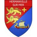 Hermanville-sur-Mer Sticker wappen, gelsenkirchen, augsburg, klebender aufkleber