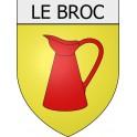 Le Broc 06 ville Stickers blason autocollant adhésif