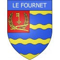 Stickers coat of arms Le Fournet adhesive sticker