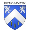Stickers coat of arms Le Mesnil-Durand adhesive sticker