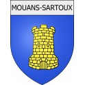 Stickers coat of arms Mouans-Sartoux adhesive sticker