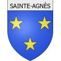 Stickers coat of arms Sainte-Agnès adhesive sticker