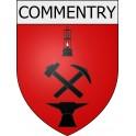 Commentry 03 ville Stickers blason autocollant adhésif
