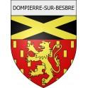 Dompierre-sur-Besbre 03 ville Stickers blason autocollant adhésif