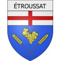 Stickers coat of arms étroussat adhesive sticker