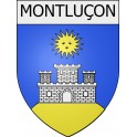 Stickers coat of arms Montluçon adhesive sticker
