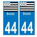 44 breizh bretagne autocollant plaque