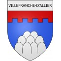 Stickers coat of arms Villefranche-d'Allier adhesive sticker