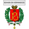 Stickers coat of arms Bohain-en-Vermandois adhesive sticker