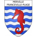 Stickers coat of arms Merville-Franceville-Plage adhesive sticker