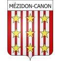 Stickers coat of arms Mézidon-Canon adhesive sticker