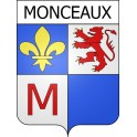 Stickers coat of arms Monceaux adhesive sticker
