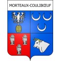 Stickers coat of arms Morteaux-Coulibœuf adhesive sticker