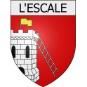 Stickers coat of arms L'Escale adhesive sticker