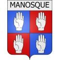 Stickers coat of arms Manosque adhesive sticker