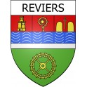 Stickers coat of arms Reviers adhesive sticker