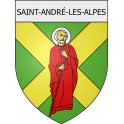 Stickers coat of arms Saint-André-les-Alpes adhesive sticker