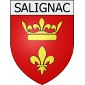 Salignac 04 ville Stickers blason autocollant adhésif