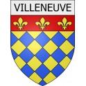 Pegatinas escudo de armas de Blausasc adhesivo de la etiqueta engomada