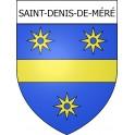 Saint-Denis-de-Méré 14 ville Stickers blason autocollant adhésif