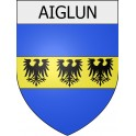 Stickers coat of arms Aiglun adhesive sticker