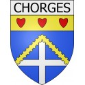 Stickers coat of arms Chorges adhesive sticker