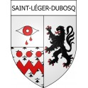 Stickers coat of arms Saint-Léger-Dubosq adhesive sticker