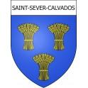 Saint-Sever-Calvados 14 ville Stickers blason autocollant adhésif