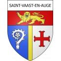 Stickers coat of arms Saint-Vaast-en-Auge adhesive sticker