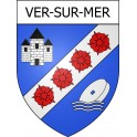 Stickers coat of arms Ver-sur-Mer adhesive sticker