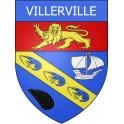 Villerville 14 ville Stickers blason autocollant adhésif