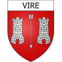 Stickers coat of arms Vire adhesive sticker