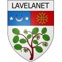 Stickers coat of arms Lavelanet adhesive sticker