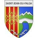 Saint-Jean-du-Falga 09 ville Stickers blason autocollant adhésif