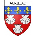 Stickers coat of arms Aurillac adhesive sticker
