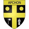 Apchon 15 ville Stickers blason autocollant adhésif