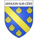 Stickers coat of arms Arpajon-sur-Cère adhesive sticker