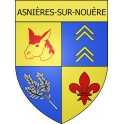 Stickers coat of arms Asnières-sur-Nouère adhesive sticker