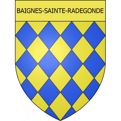 Stickers coat of arms Baignes-Sainte-Radegonde adhesive sticker