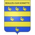 Beaulieu-sur-Sonnette 16 ville Stickers blason autocollant adhésif