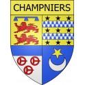 Champniers 16 ville Stickers blason autocollant adhésif