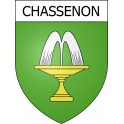 Stickers coat of arms Chassenon adhesive sticker
