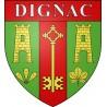 Dignac 16 ville Stickers blason autocollant adhésif