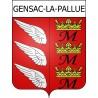 Gensac-la-Pallue Sticker wappen, gelsenkirchen, augsburg, klebender aufkleber