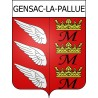 Stickers coat of arms Gensac-la-Pallue adhesive sticker