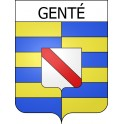 Stickers coat of arms Genté adhesive sticker