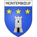 Stickers coat of arms Montembœuf adhesive sticker